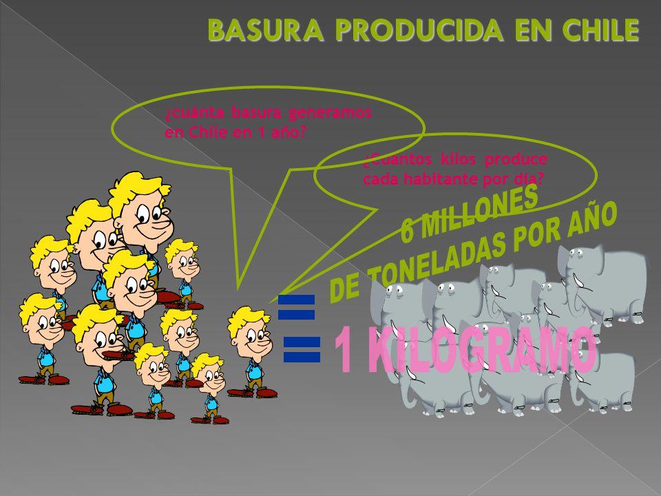 BASURA PRODUCIDA EN CHILE