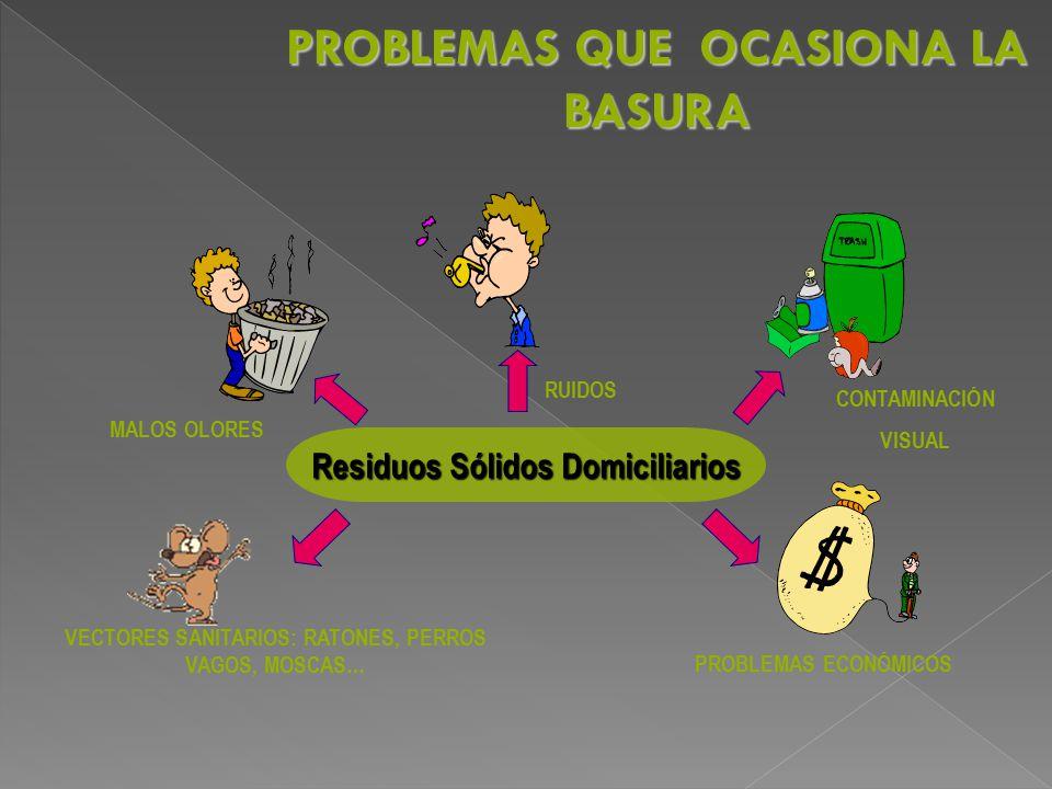 PROBLEMAS QUE OCASIONA LA BASURA