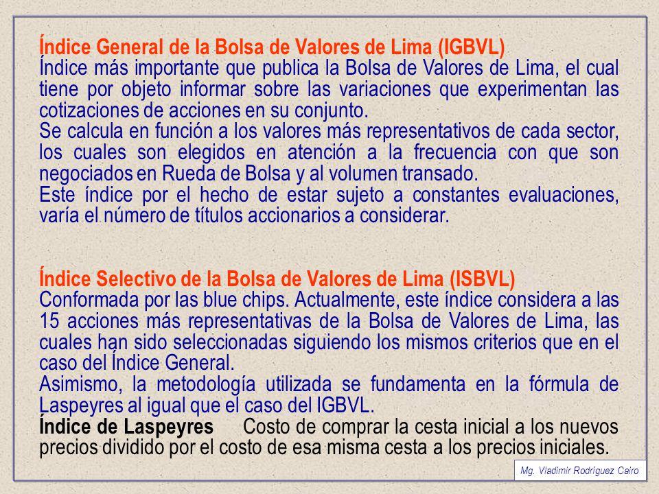 Índice General de la Bolsa de Valores de Lima (IGBVL)