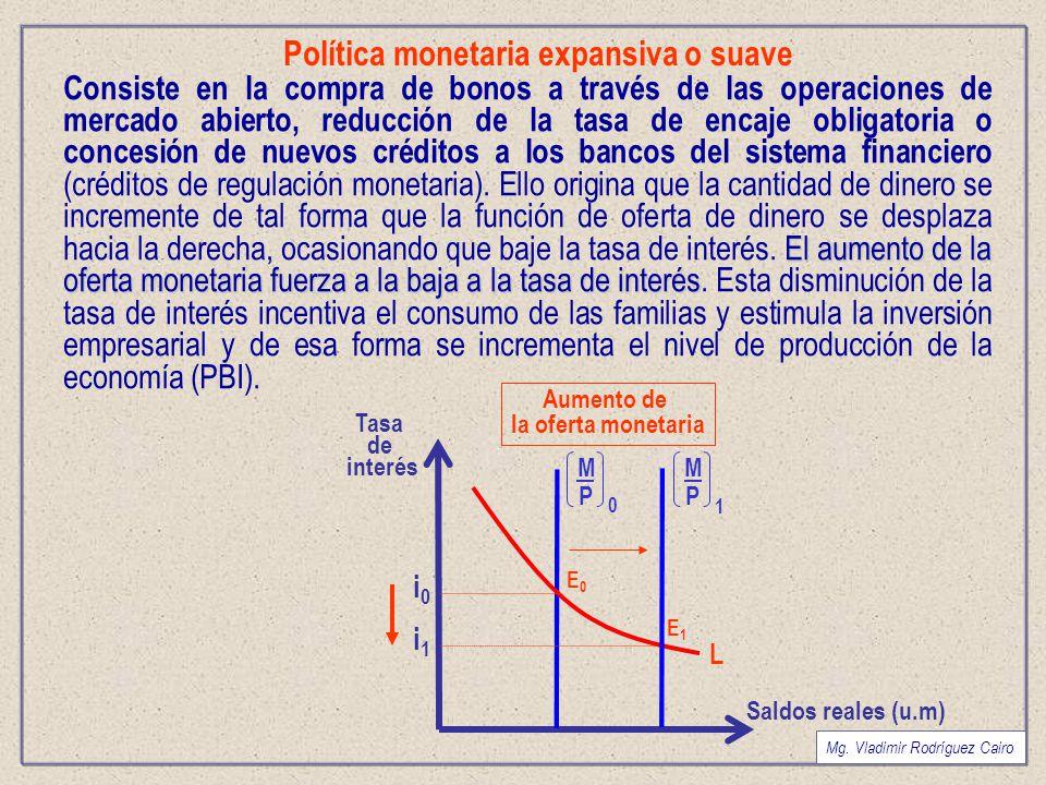 Política monetaria expansiva o suave