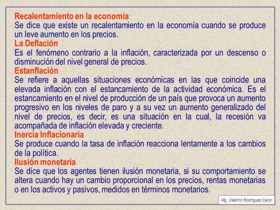Recalentamiento en la economía