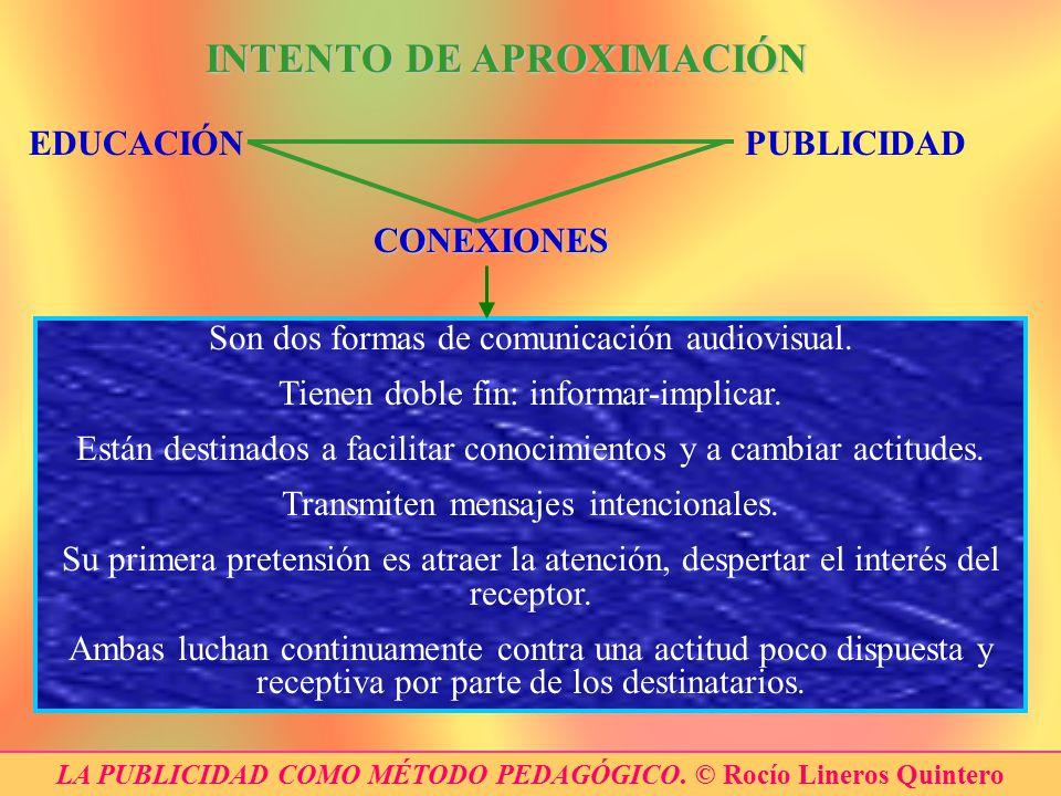 LA PUBLICIDAD COMO MÉTODO PEDAGÓGICO. © Rocío Lineros Quintero
