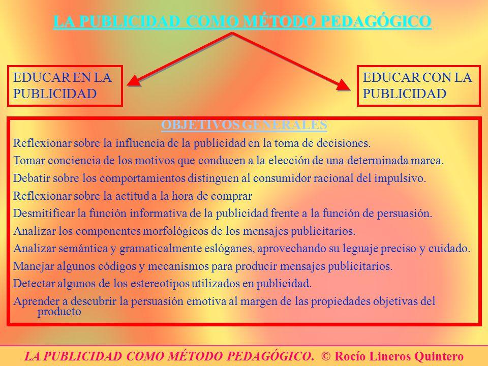 LA PUBLICIDAD COMO MÉTODO PEDAGÓGICO