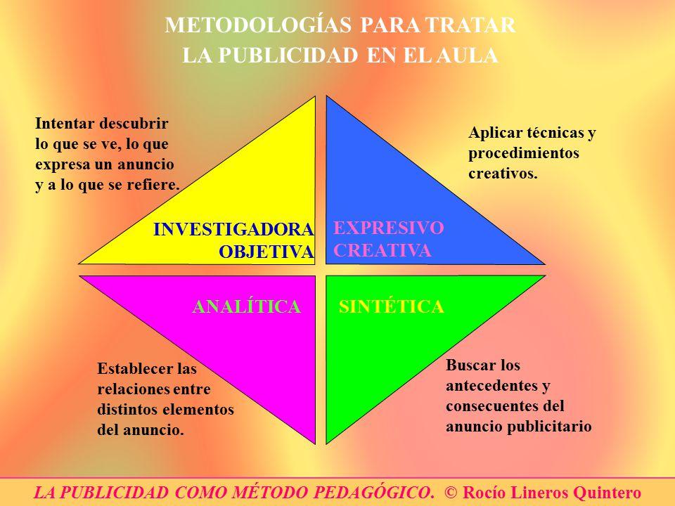 METODOLOGÍAS PARA TRATAR LA PUBLICIDAD EN EL AULA