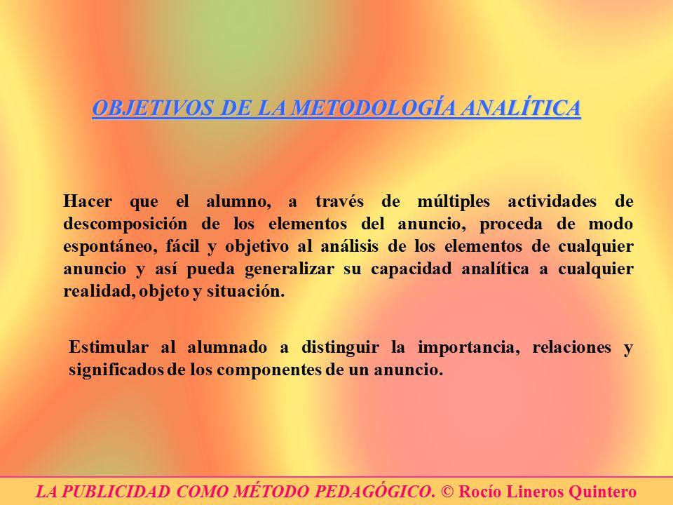 OBJETIVOS DE LA METODOLOGÍA ANALÍTICA