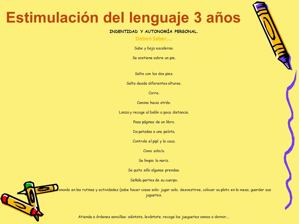 Estimulación del lenguaje 3 años