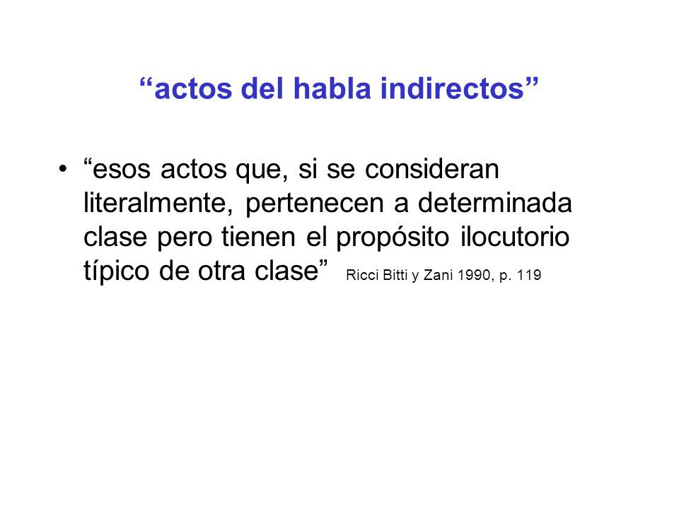 actos del habla indirectos