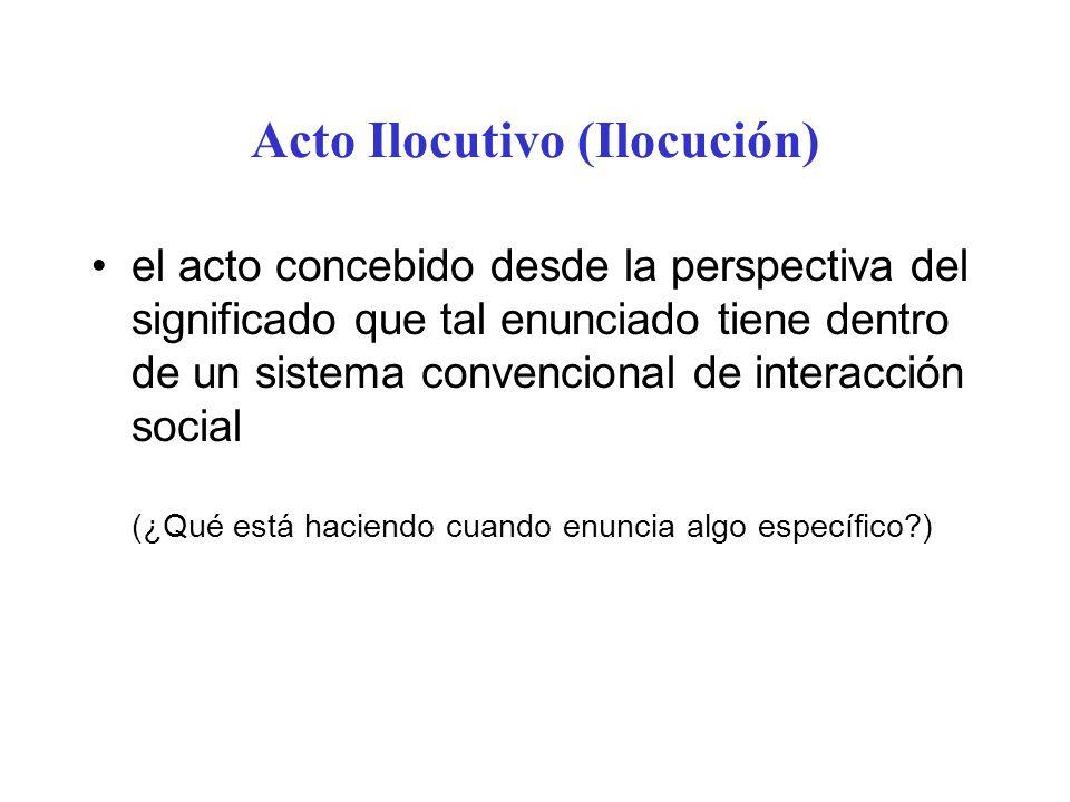 Acto Ilocutivo (Ilocución)