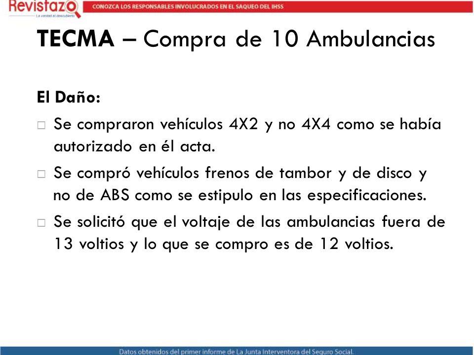 TECMA – Compra de 10 Ambulancias