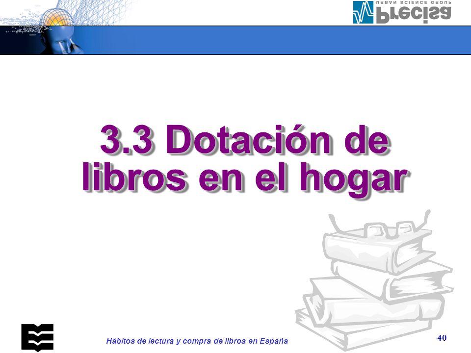 3.3.1. Dotación de libros en el hogar