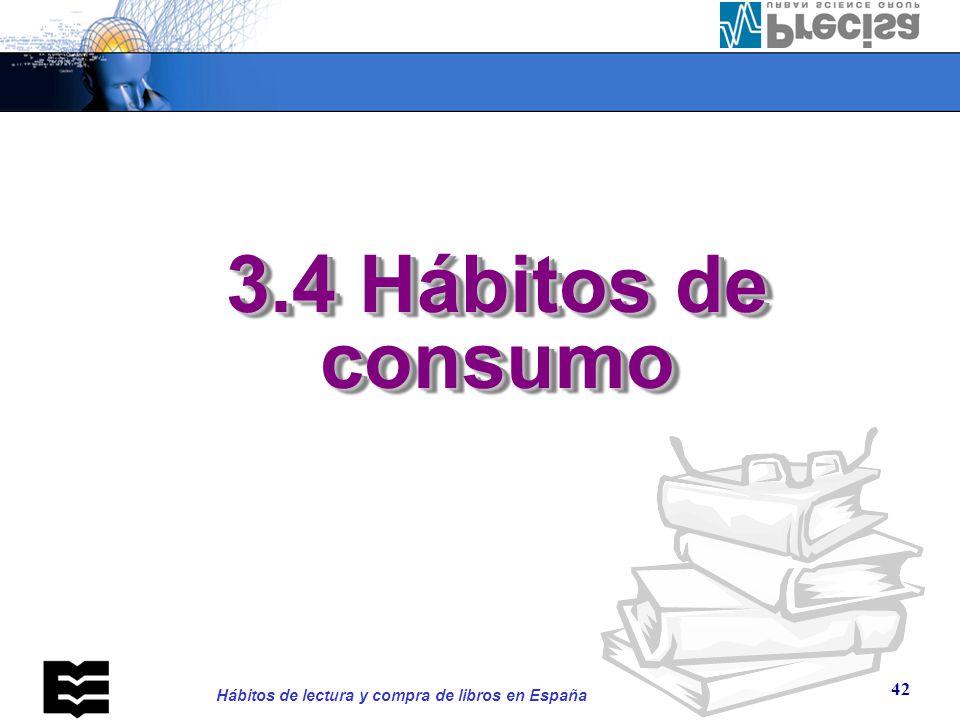 3.4. Hábitos de consumo ¿Cómo ha llegado a sus manos el último libro que ha leído o está leyendo
