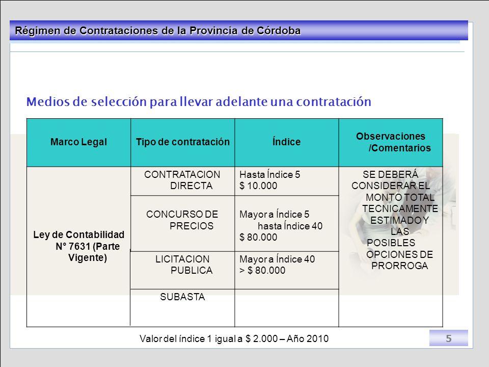 Observaciones /Comentarios Ley de Contabilidad N° 7631 (Parte Vigente)
