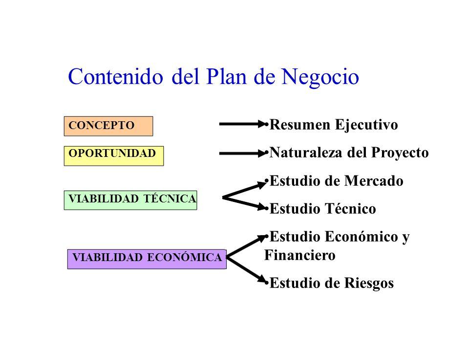 Contenido del Plan de Negocio