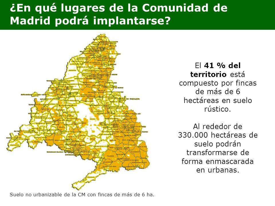¿En qué lugares de la Comunidad de Madrid podrá implantarse