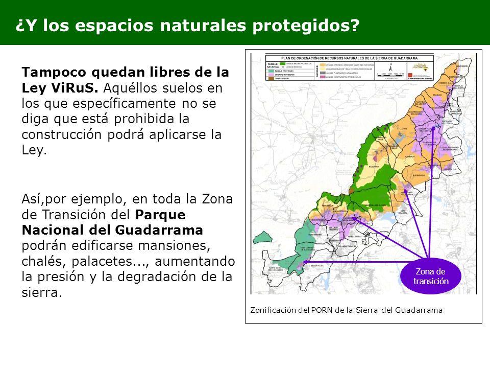 ¿Y los espacios naturales protegidos
