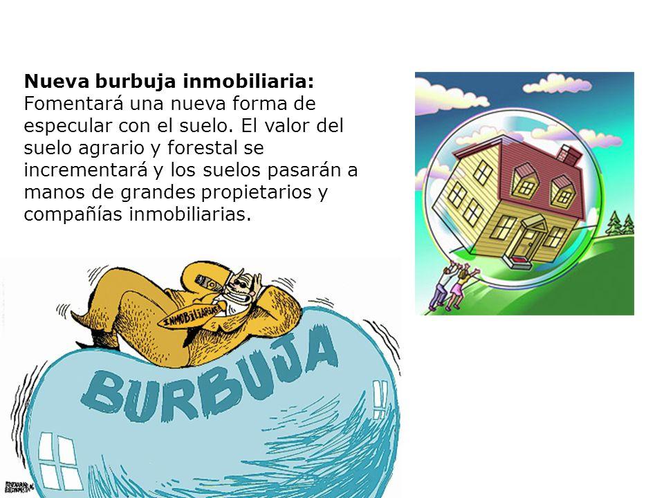 Nueva burbuja inmobiliaria: Fomentará una nueva forma de especular con el suelo.