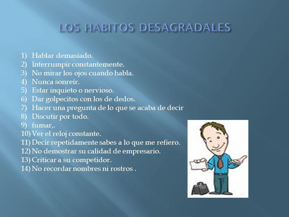 LOS HABITOS DESAGRADALES
