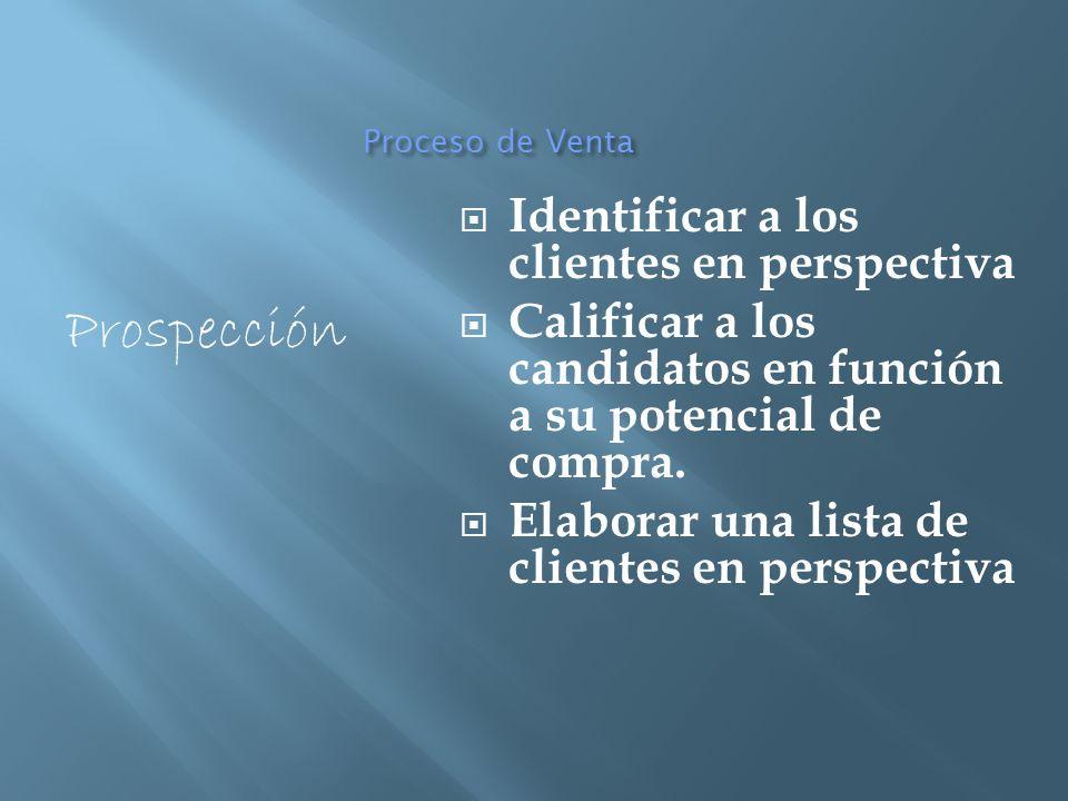 Prospección Identificar a los clientes en perspectiva