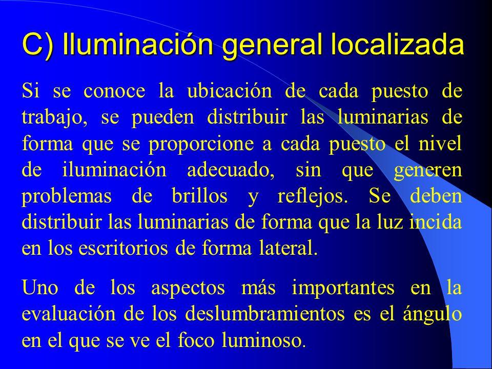 C) Iluminación general localizada