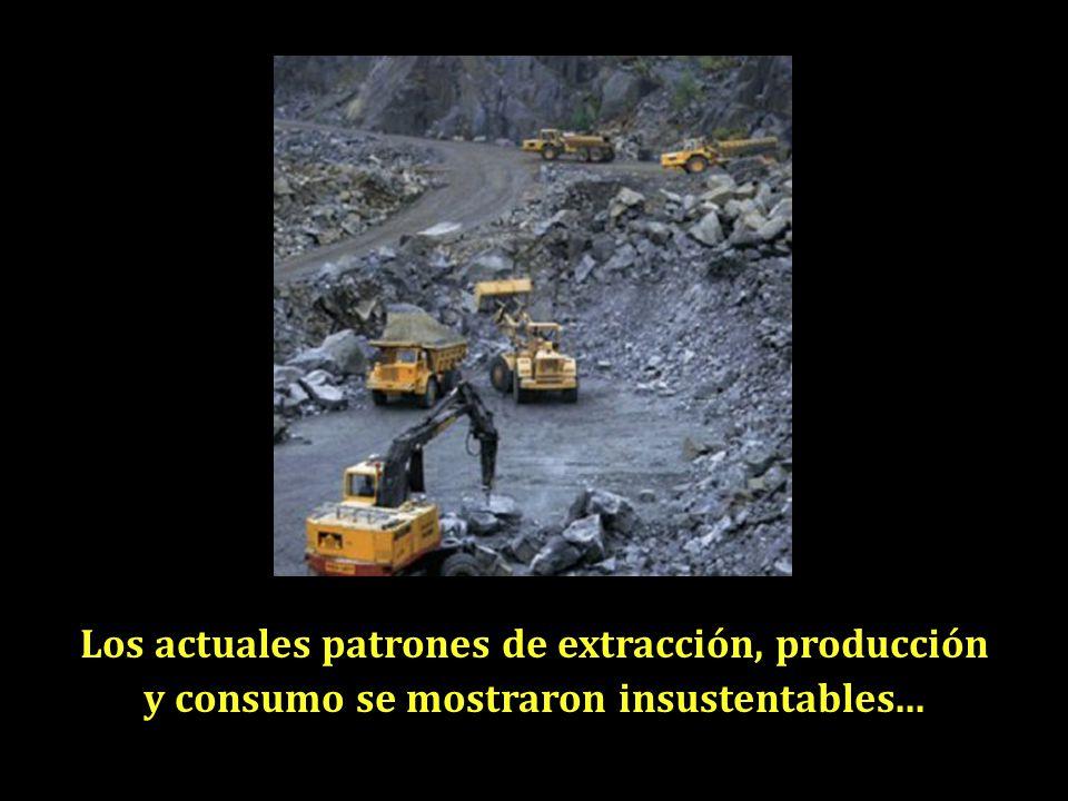 Los actuales patrones de extracción, producción y consumo se mostraron insustentables...