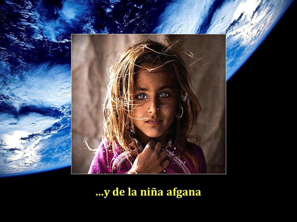 ...y de la niña afgana