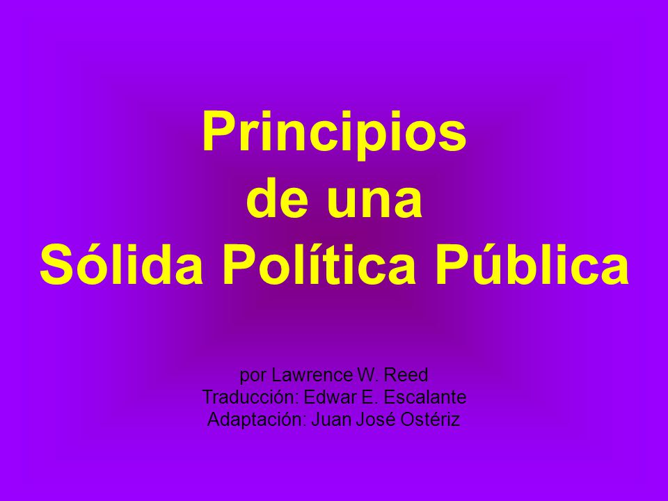 Sólida Política Pública