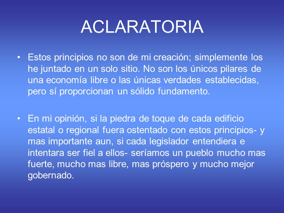ACLARATORIA