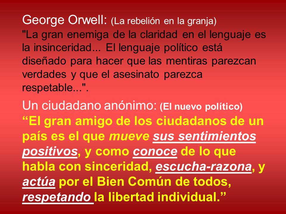 George Orwell: (La rebelión en la granja)