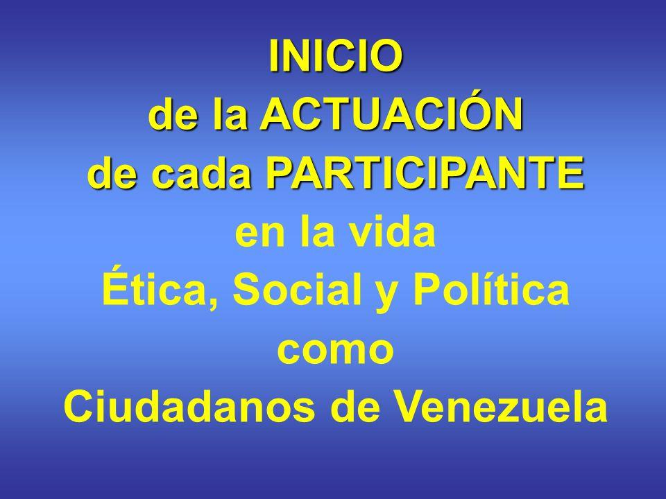 Ética, Social y Política Ciudadanos de Venezuela