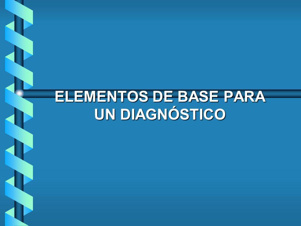 ELEMENTOS DE BASE PARA UN DIAGNÓSTICO