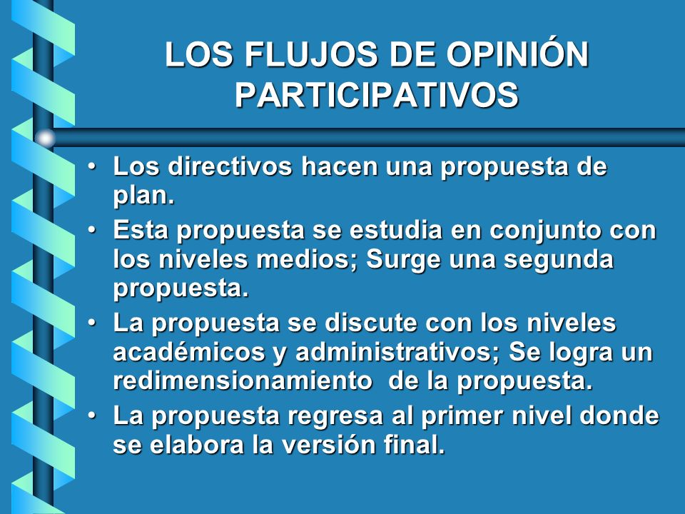 LOS FLUJOS DE OPINIÓN PARTICIPATIVOS