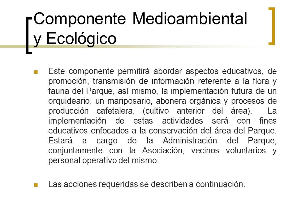 Componente Medioambiental y Ecológico