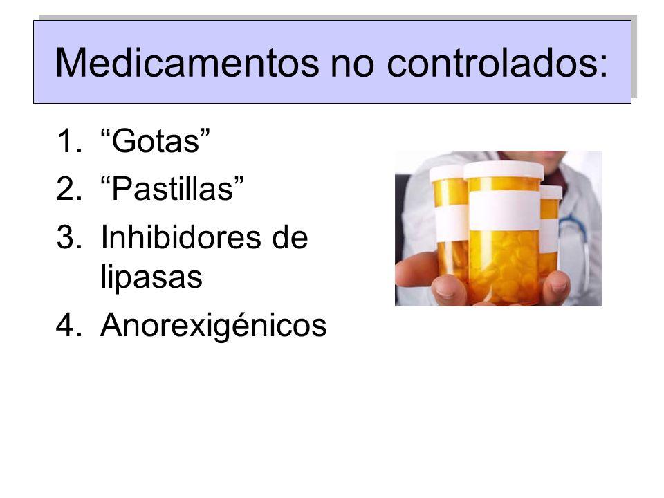 Medicamentos no controlados: