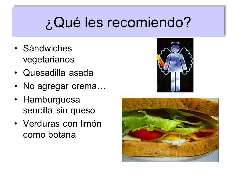 ¿Qué les recomiendo Sándwiches vegetarianos Quesadilla asada