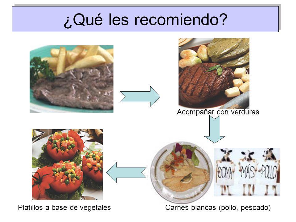 ¿Qué les recomiendo Acompañar con verduras