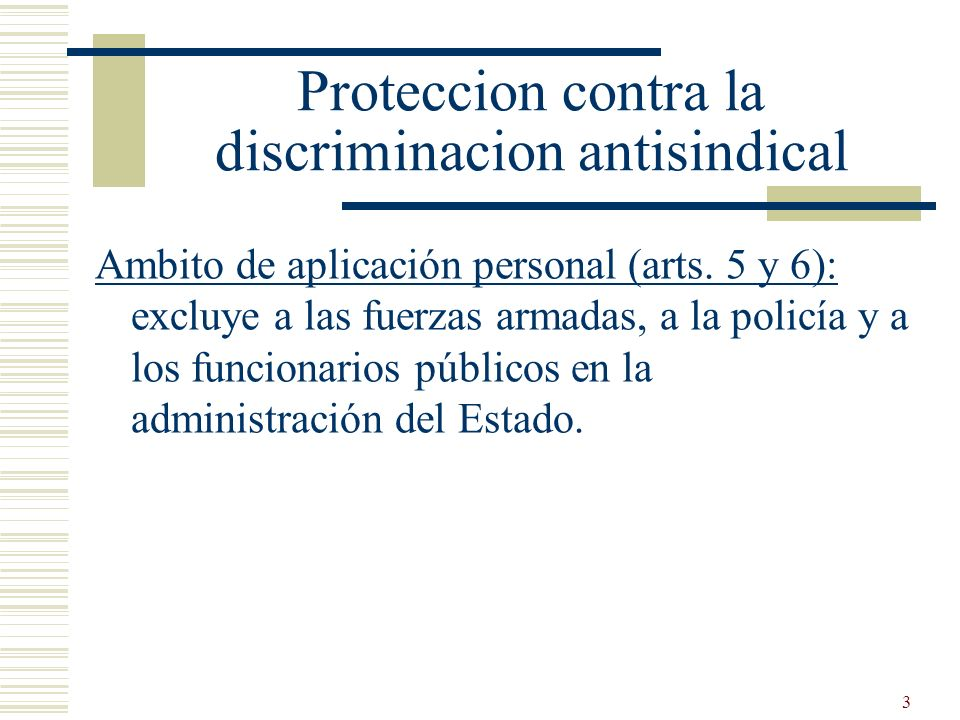 Proteccion contra la discriminacion antisindical