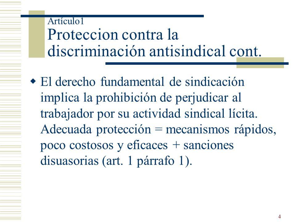 Artículo1 Proteccion contra la discriminación antisindical cont.