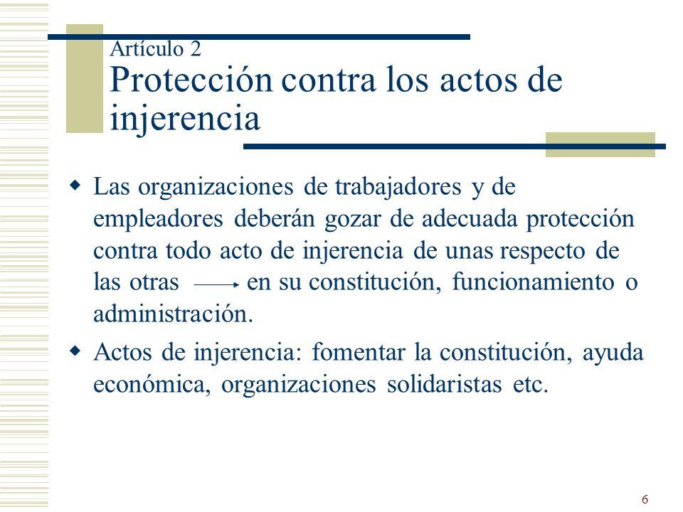 Artículo 2 Protección contra los actos de injerencia