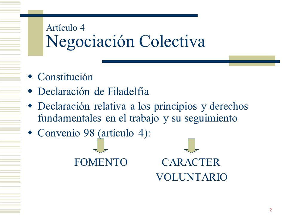Artículo 4 Negociación Colectiva