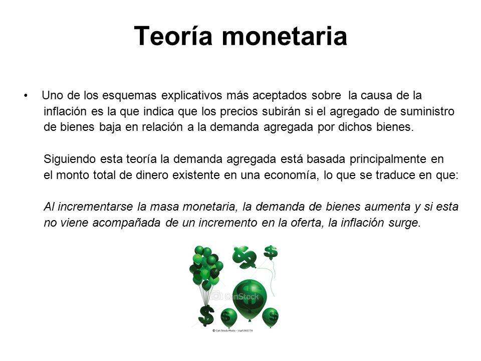 Teoría monetaria Uno de los esquemas explicativos más aceptados sobre la causa de la.