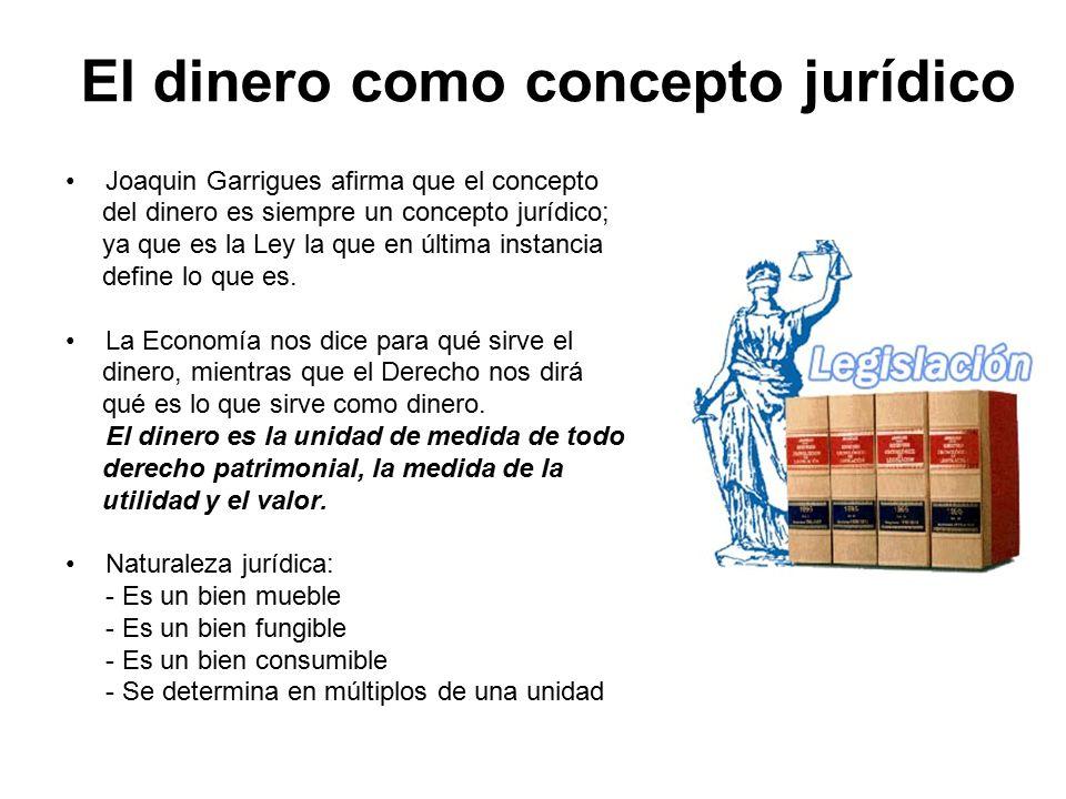 El dinero como concepto jurídico
