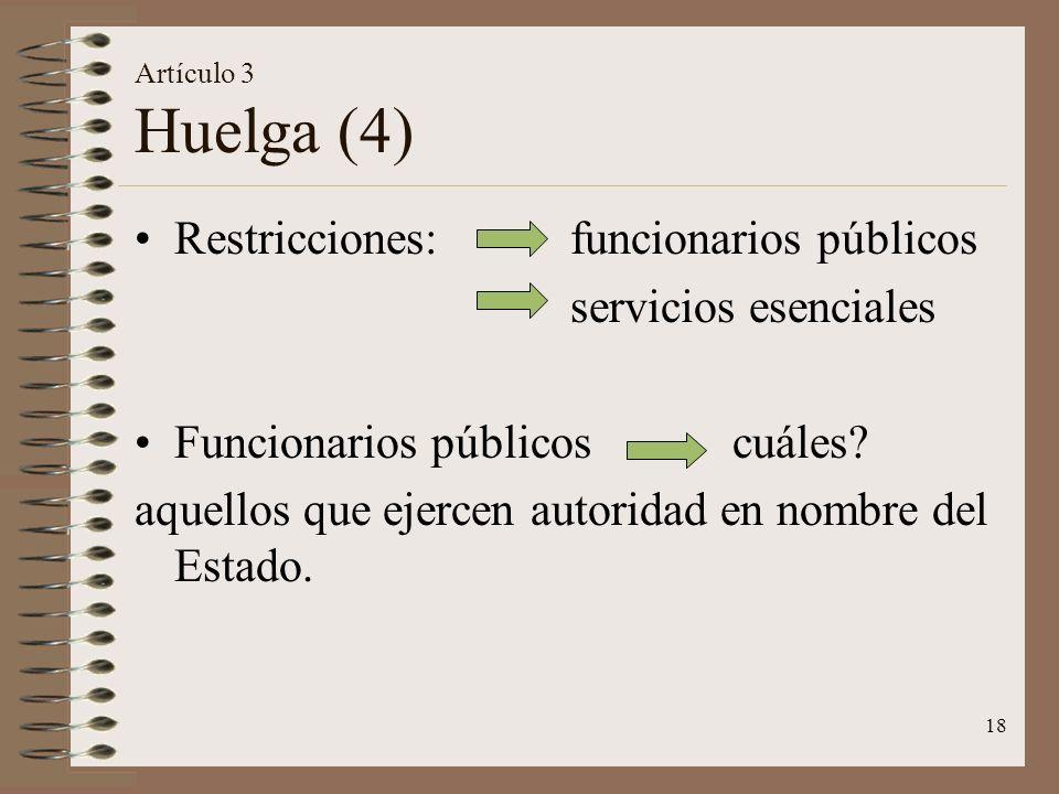 Restricciones: funcionarios públicos servicios esenciales