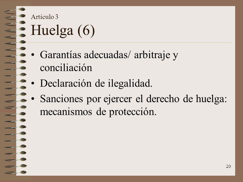 Garantías adecuadas/ arbitraje y conciliación