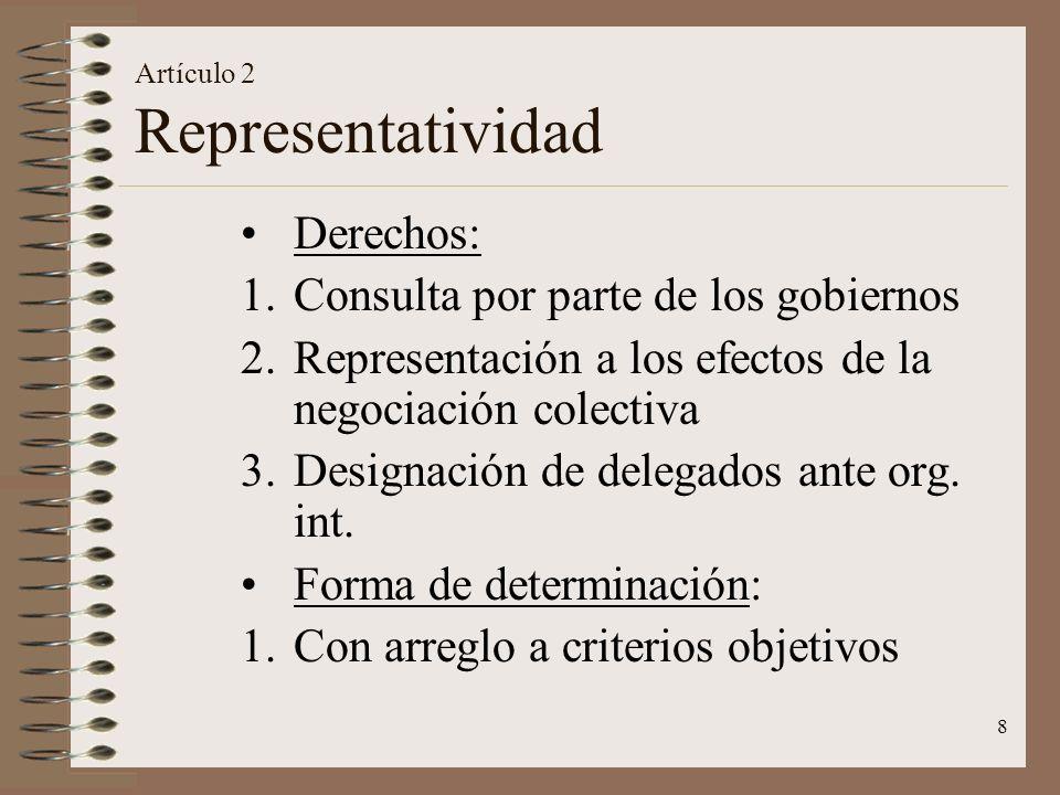 Artículo 2 Representatividad