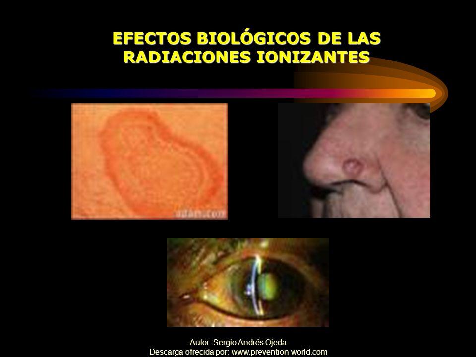 EFECTOS BIOLÓGICOS DE LAS RADIACIONES IONIZANTES