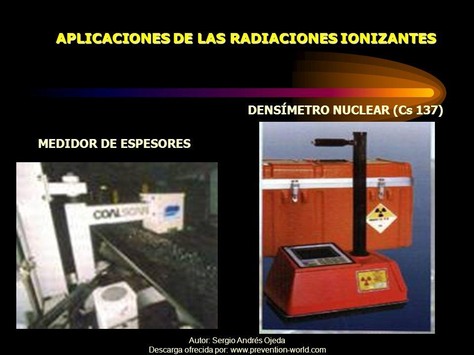 APLICACIONES DE LAS RADIACIONES IONIZANTES DENSÍMETRO NUCLEAR (Cs 137)
