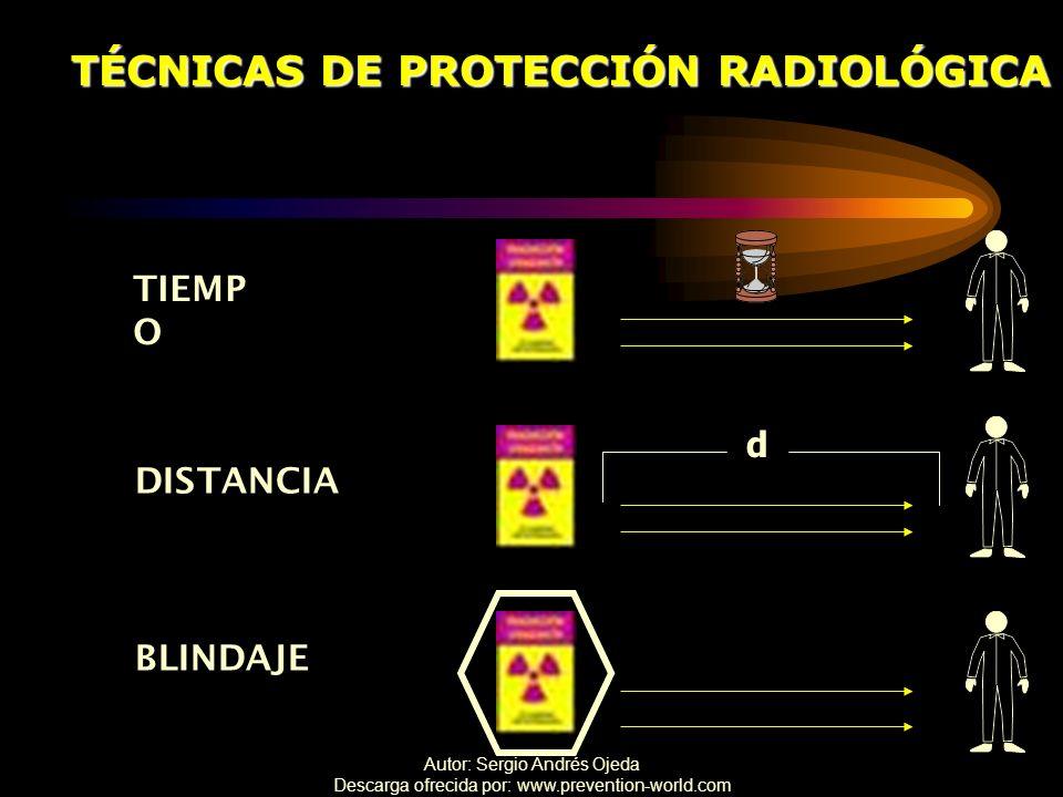 TÉCNICAS DE PROTECCIÓN RADIOLÓGICA