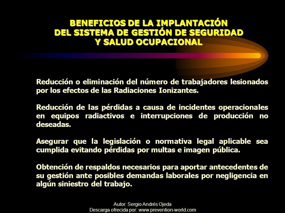 BENEFICIOS DE LA IMPLANTACIÓN DEL SISTEMA DE GESTIÓN DE SEGURIDAD