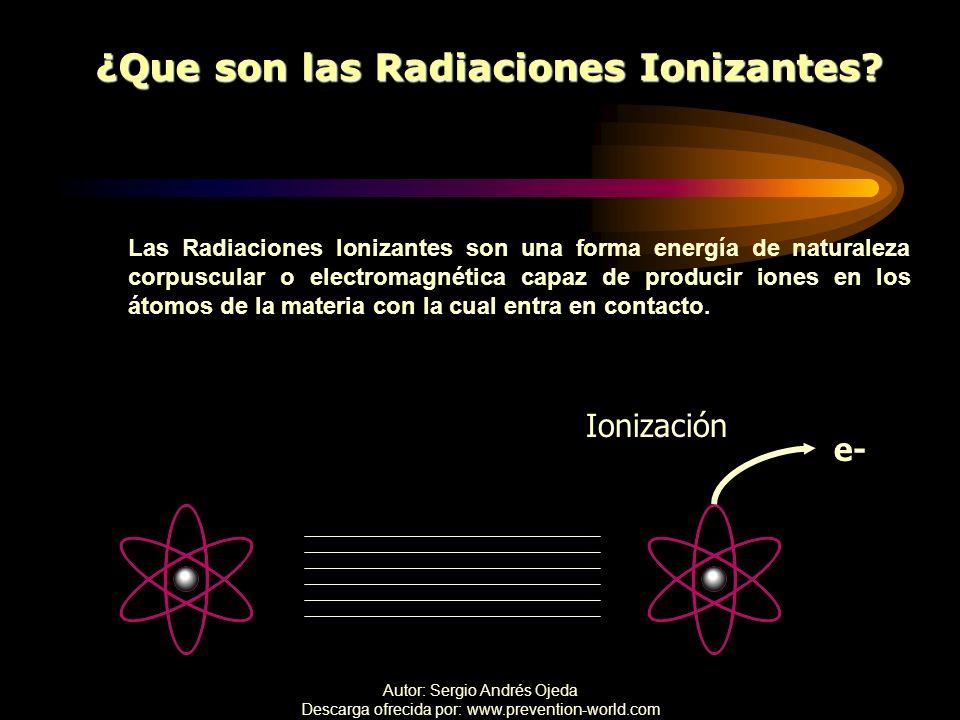 ¿Que son las Radiaciones Ionizantes
