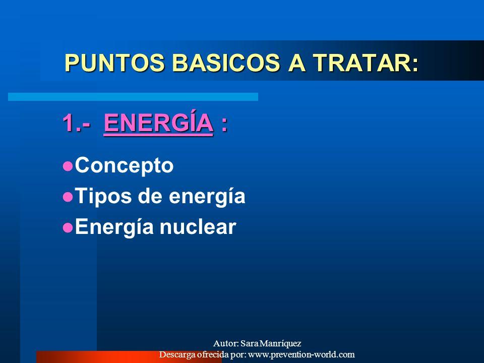 PUNTOS BASICOS A TRATAR: